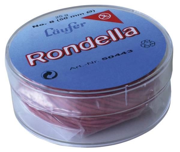 RONDELLA Gummiringe in der Dose Ø25mm, 25g, rot