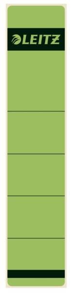 1643 Rückenschilder Papier, kurz schmal, 10 Stück, grün