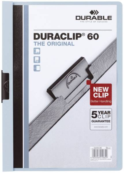Klemm Mappe DURACLIP 60, DIN A4, blau®