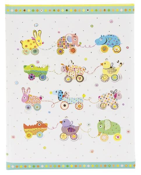 TURNOWSKY Babytagebuch Animals on Wheels 11632 23x25cm