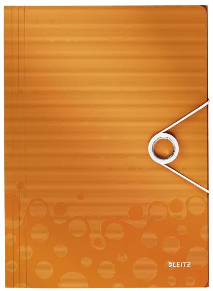4599 Eckspannermappe WOW A4, PP, orange metallic