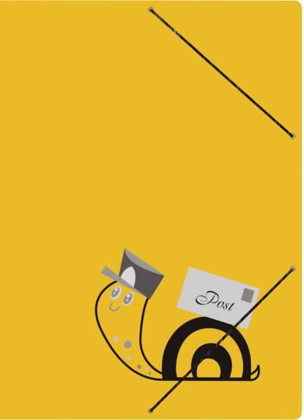 """Postmappe """"Schneckenpost"""" A4, Karton, mit Gummizugverschluss"""