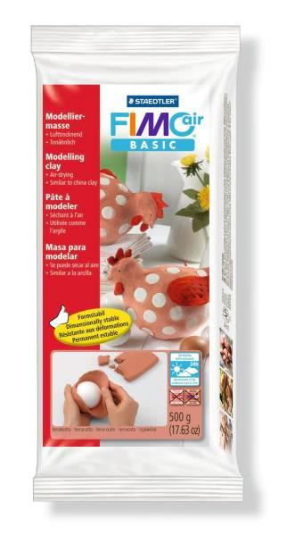 Modelliermasse FIMO air basic 500g, terrakotta, metall Folie®