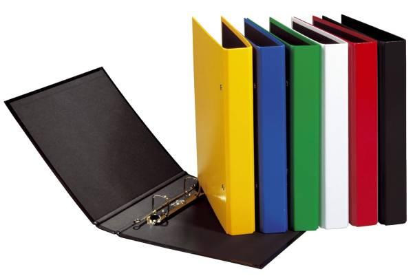 Ringbuch Basic Colours A5, 2 Bügel Mechanik, Ring Ø 20mm, schwarz
