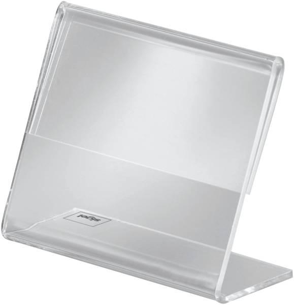 SIGEL Tischaufsteller A8 quer glasklar 10 St. PA103 schräg Acryl