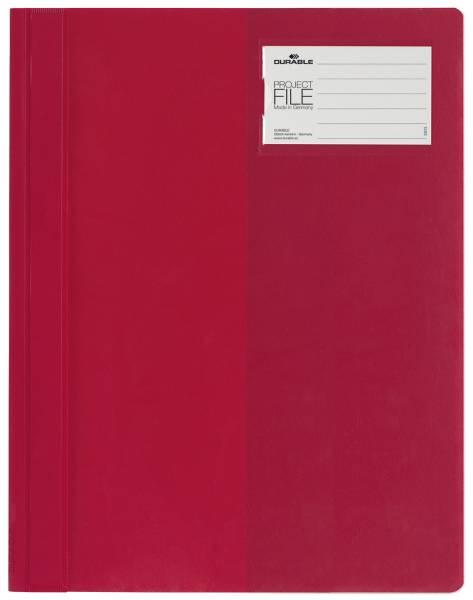 Sichthefter PROJECT FILE Beschriftungsfenster, A4, rot