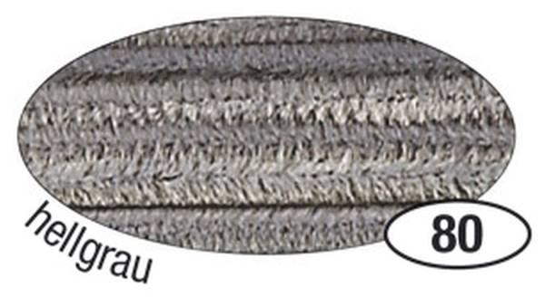 Chenilledraht 8 mm, 10 Stück, hellgrau