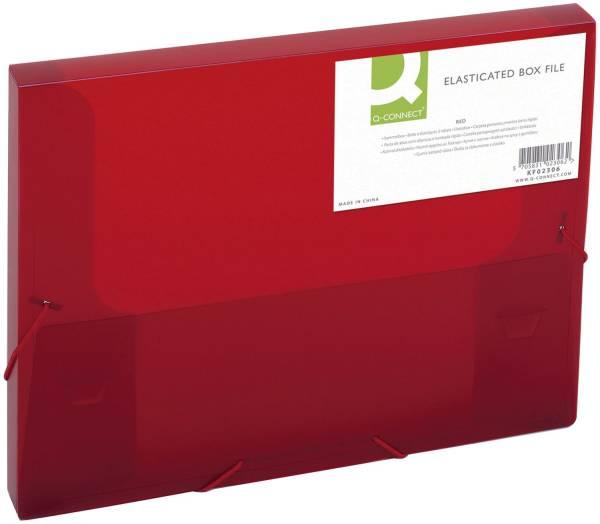 Sammelbox A4, 250 Blatt, PP, rot transluzent