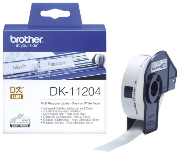 DK Einzeletiketten Papier Etiketten 400 Mehrzweck Absender Etiketten 17x54 mm