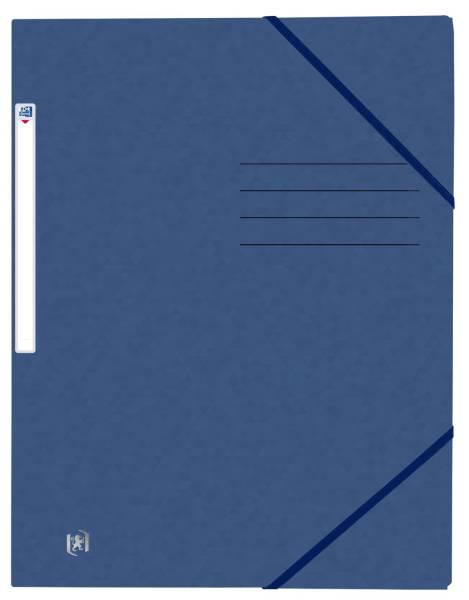 OXFORD Eckspanner A4 Karton dunkelbau 400116325 Top File+