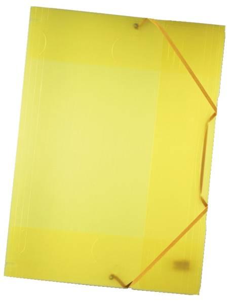 Sammelmappe mit Gummiband, DIN A3, transparent, gelb