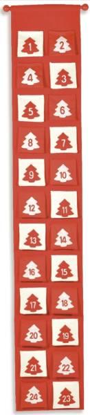 Adventkalender Filz rot 9549 L130cm