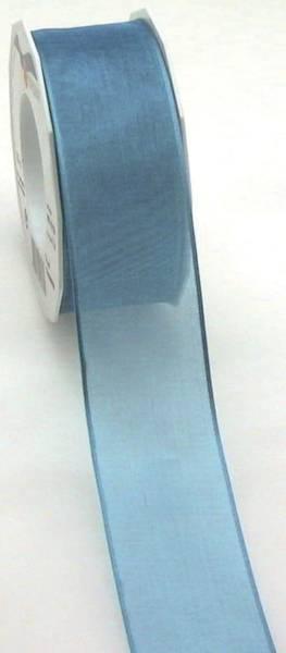 Organzaband 40mmx25m DK blau 07 4025 714