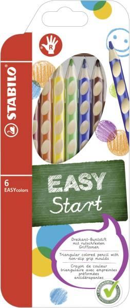 Ergonomischer Buntstift EASYcolors Klappetui mit 6 Stiften, Rechts