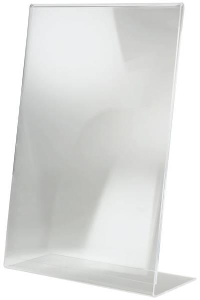 Tischaufsteller, schräg, glasklar, für A3