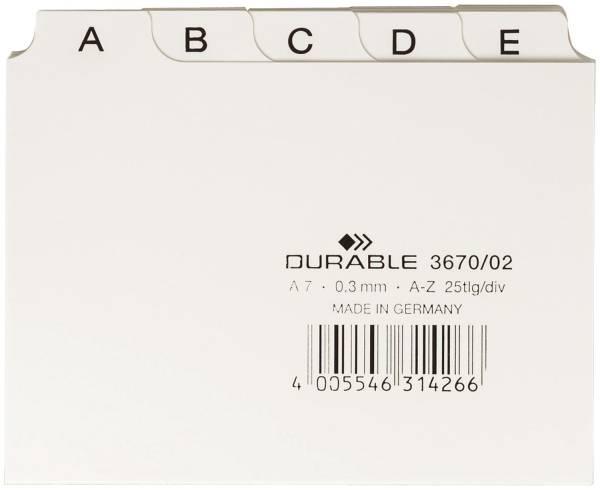 DURABLE Leitregister A7 weiß 3670 02