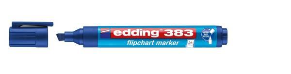EDDING Flipchartmarker 383 1-5mm blau 4-383003 nachfüllbar Keilspitze