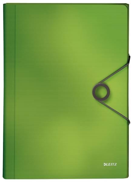 4579 Fächermappe Solid 6 Fächer, A4, 250 Blatt, PP, hellgrün