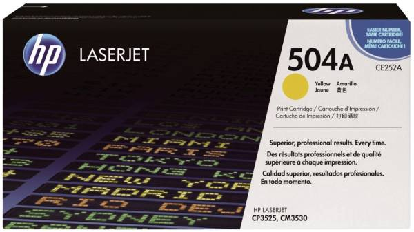 HP Lasertoner Nr. 504A yellow CE252A