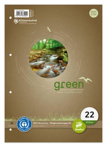 STAUFEN GREEN Ringbucheinlage A4 50BL kar. 040770022
