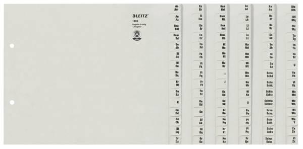 1306 Registerserie A Z, Papier, A4 Überbreite, für 6 Ordner, grau