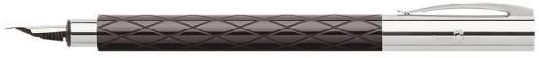 FABER CASTELL Füller Ambition EF schwarz 148922 Rhombus