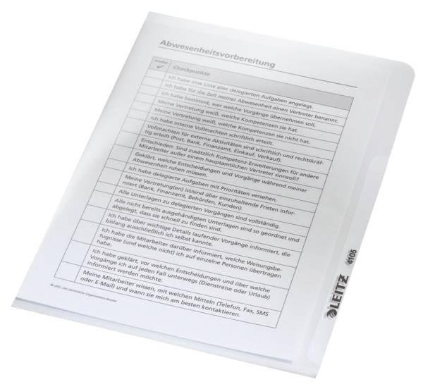 4105 Sichthülle Premium, A5, PVC, dokumentenecht, glasklar