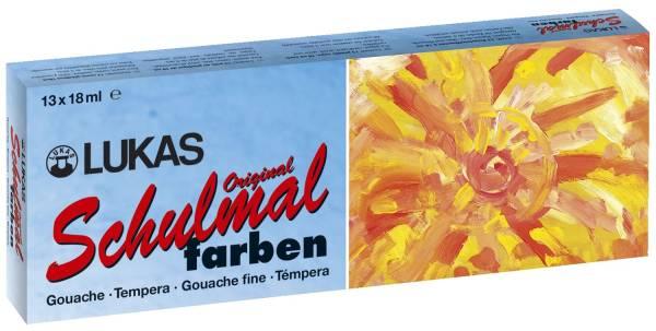 Schulmalfarbe, Grund und Zusatzfarben, 13 Farben x 18 ml