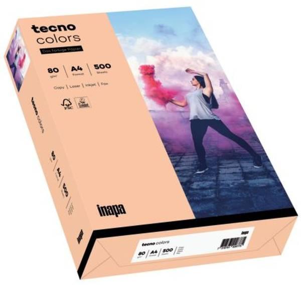 TECNO Kopierpapier Colors A4 80g 500BL lachs 2100011406