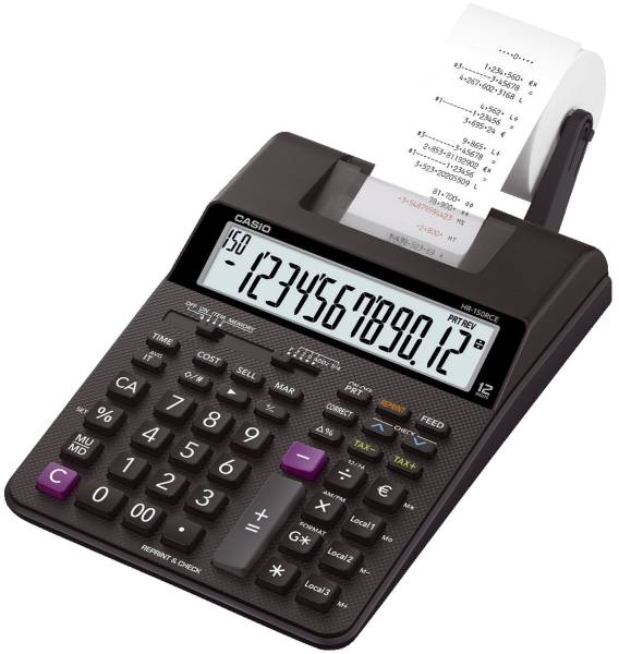 CASIO Tischrechner 12-stellig HR-150RCE druckend