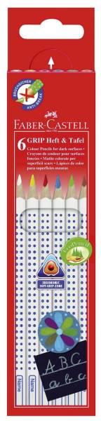 Buntstift Colour GRIP Heft & Tafel 6 Farben sortier, Kartonetui