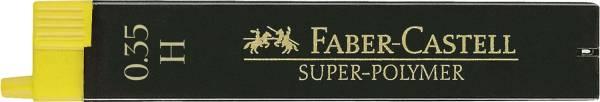Feinmine SUPER POLYMER, 0,35 mm, H, tiefschwarz, 12 Minen