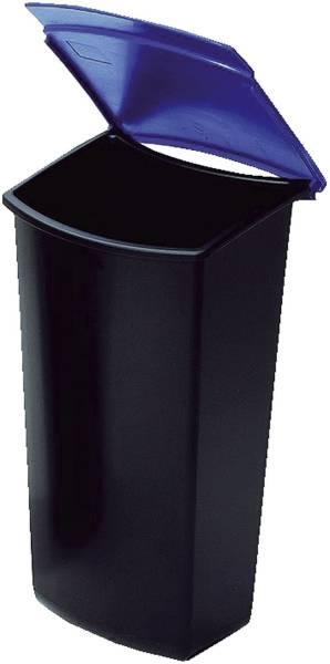 Abfalleinsatz MONDO mit Deckel, 3 Liter, schwarz blau