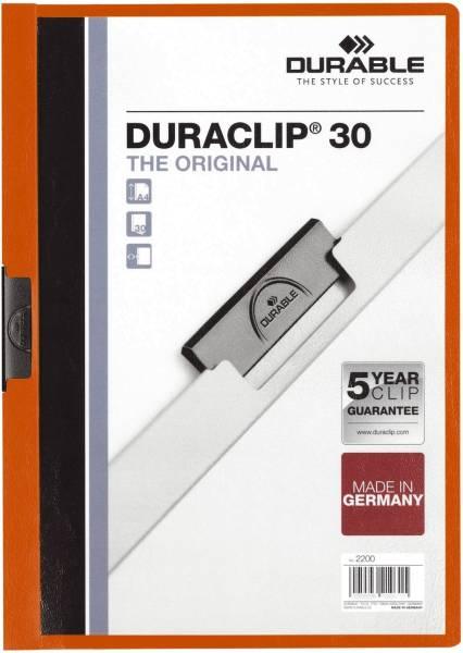 DURABLE Klemmmappe Duraclip A4 orange 2200 09 30BL