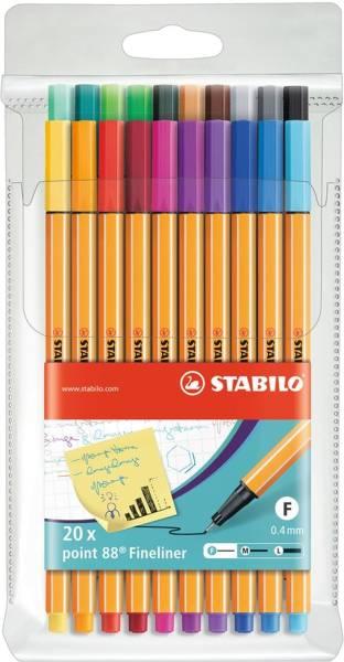 STABILO Feinliner point 88® EF 0,4mm 20 Stück 8820