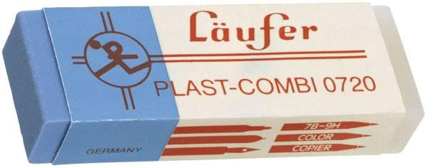 Radierer Plast COMBI 65x21x12mm