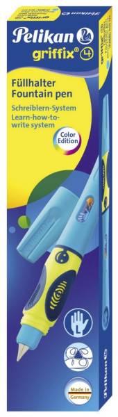 PELIKAN Füller Patrone L Griffix neonblau fresh 809177 P2NBL