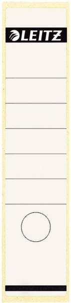 1640 Rückenschilder Papier, lang breit, 10 Stück, weiß