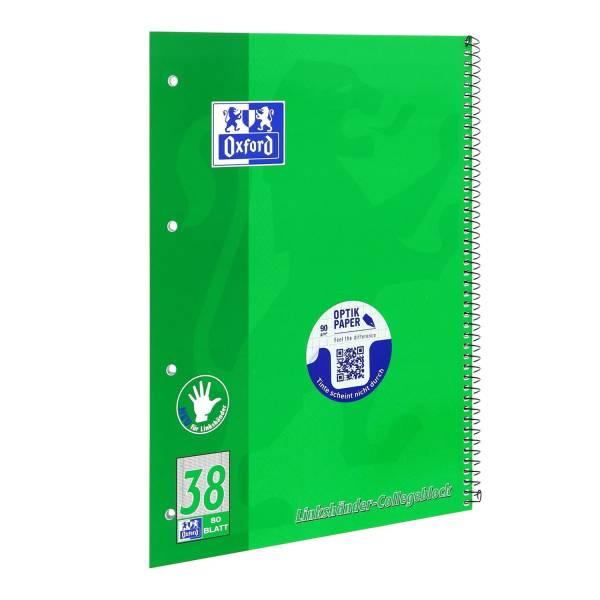 Collegeblock Lin 38 A4+, 80 Blatt, 90 g qm, 4 fach Lochung