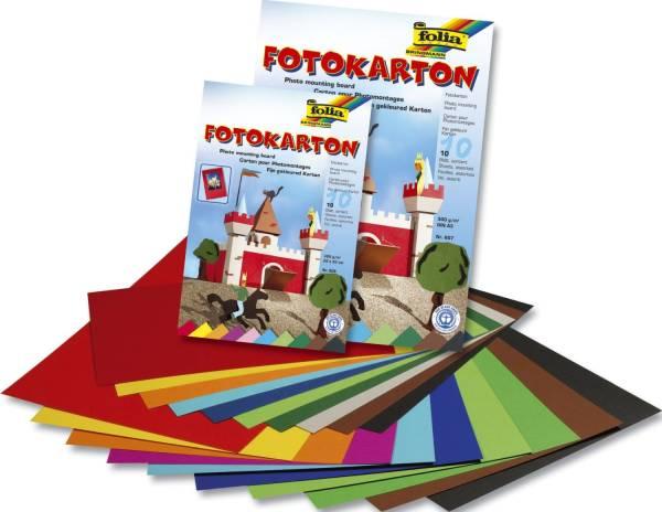 Fotokartonblock A3, 300 g qm, farbig sortiert, Block mit 10 Blatt