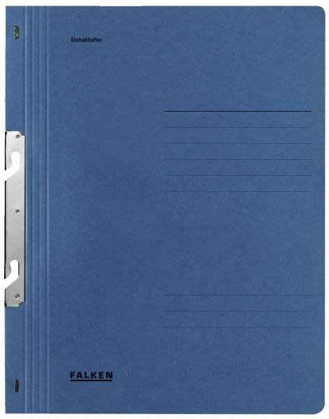 Einhakhefter A4 1 1 Vorderdeckel kfm Heftung, blau, Manilakarton, 250 g qm