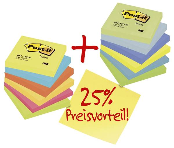 Notes Promotionpack 12 er Pack (mit 6 x Energy Farben + 6 x Dream Farben)