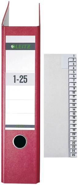 LEITZ Registerserie A4 1-25 grau 1381-00-85 Papier 25tlg.