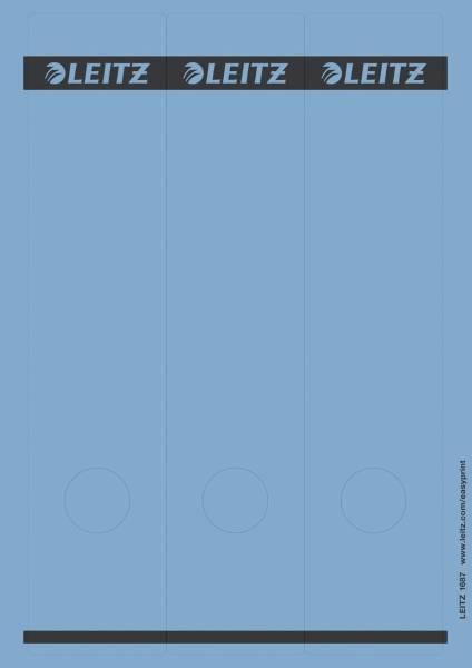 1687 PC beschriftbare Rückenschilder Papier, lang breit, 75 Stück, blau