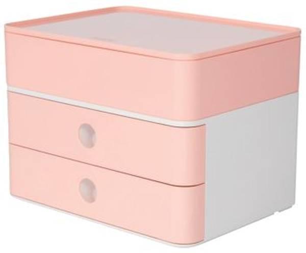 HAN Schubladenbox 2 Laden+Box weiß/rosa 1100-86 Allison