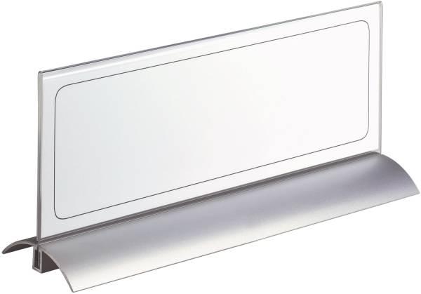 Tischnamensschild DESK PRESENTER DE LUXE, Einsteckschilder 105x297mm, transparent