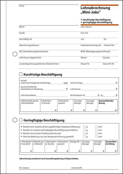 SIGEL Lohn + Gehaltsabrechnung A5 LO519 A5 50 Blatt