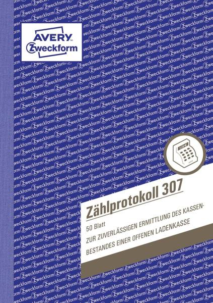 307 Zählprotokoll A5, 50 Blatt