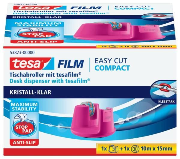 Tischabroller Easy Cut Compact für Rollen bis 15 mm x 10 m, pink