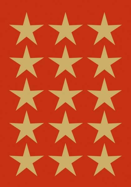 Schmucketikett Sterne gold
